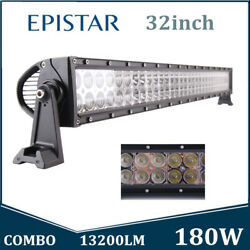 32inch 180w Led Work Light Bar Spot Flood Combo Driving Offroad Tractor Vehicle
