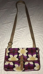 Fossil Crossbody Small Purse Zippered Floral Shiny Bag $18.00