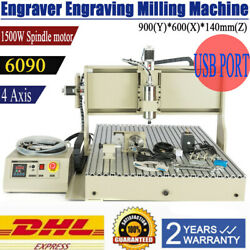 1500W CNC Router Engravering Machine For Wood Acrylic 6090 High Quality 4 Axis