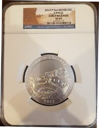 2012 Us Mint Atb Chaco Culture Np 5 Oz Ounce Silver Coin Ngc Sp69 Early Releases