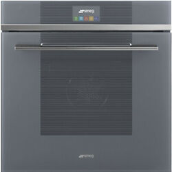 Graded Smeg Sfp6104sts 60cm Silver Glass Multi Single Oven Jub-30093 Rrp Andpound1869