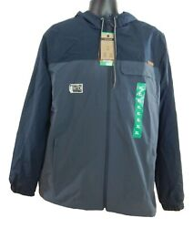 Menand039s Voyager Water Resistant Full Zip Hooded Stretch Windwear Jacket