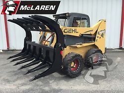 76 Wide Heavy Duty Root/log Grapple Clamshell For Skid Loader For Cat