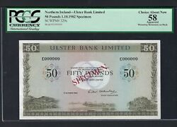 Northern Ireland 50 Pounds 1-10-1982 P329s Specimen About Uncirculated