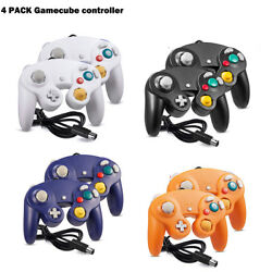 4 Pack Wired Ngc Controller Joystick For Game Cube Andwii U Console Switch