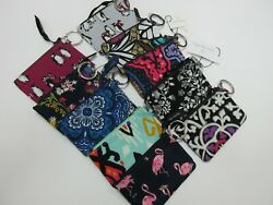 Vera Bradley Zip ID Case With Keychain In A Variety Of Prints New With Tag $10.75