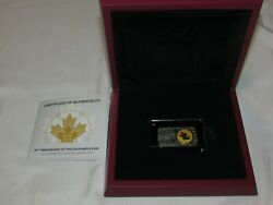 40th Anniversary Maple Leaf Gold And Slver Coin And Bar Only 500 Made.