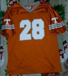 Tennessee Volunteers Vols Youth Boy's Xl 14-16 Football Jersey 28 Orange And Gray
