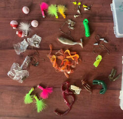 Huge Lot Of Fishing Lures Hook Bobbers Shiny Things And 2 Cases