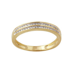 10ky Yellow Gold 1/8cttw Diamond Double Row Menand039s Band - Size 10 Nwt Msrp1000