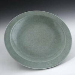 Chinese Porcelain Celadon Green Crackle Plate Charger Pottery Ceramics China