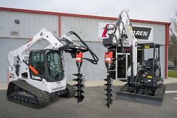 Skid Steer Auger Attachment 10-20 Gpm 2 Hex 1/2 Hoses And Mount - Caterpillar