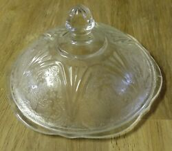 Hazel Atlas Royal Lace Clear Butter Dish Lid / Cover Only Depression Htf Rare