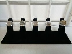 Rare 1960's Famous Monsters Flicker Ring Mail Away Premiums Set Of 5 W/ Display