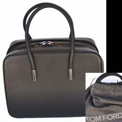 TOM FORD New $3950 Auth Designer Ava Satchel Handbag Day Tote Leather Bag black
