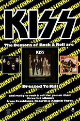 Kiss Band 20 X 30 Reproduction Dressed To Kill Promo Poster - Collectibles