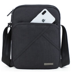Mens Casual crossbody Bag Shoulder for 9.7#x27;pad Waterproof Messenger Canvas $27.99