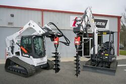 Skid Steer Auger Attachment 20-35 Gpm 2 Hex With 3/4 Hoses And Mount - Kubota