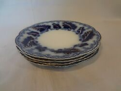 Johnson Brothers Normandy - Flow Blue - Set Of 4 Dessert Or Pie Plates