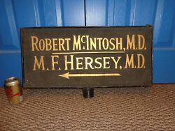 Outside Vintage Metal Double-sided Doctor Advertising Trade Sign Medical Shingle
