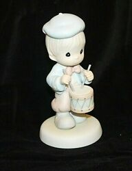 Precious Moments Figurine Marching To The Beat Of Freedom's Drum 1995 521981