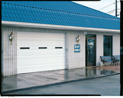 Duro Steel Amarr 2402 Series 14and039 Wide By 14and039tall Commercial Overhead Garage Door