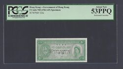 Hong Kong 5 Cents Nd1961 P326s Specimen About Uncirculated