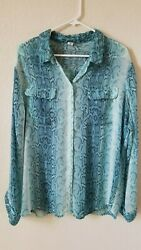 OLD NAVY Sheer PLUS SIZE XXL BLOUSE **Long Sleeve *Pockets*Great colors