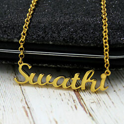 Personalized Name Necklace Yellow Gold 22kt Or White Gold Rhodium With Chain