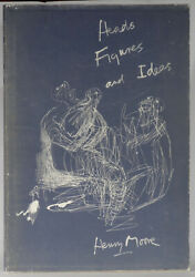 Henry Moore Heads Figures Ideas 1958 Folio Limited Edition Signed Lithograph