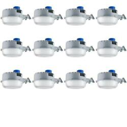 Case Of 12 Wall Mount Outdoor Light Fixture Built-in Photocell Led 5850 Lumens