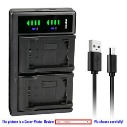 Kastar Battery Lcd Dual Charger For Np-fv100 Sony Hdr-xr155 Hdr-xr160 Hdr-xr260