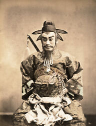 Vintage 1870-1875 Photograph Of A Samurai Actor By Stillfried, Japan