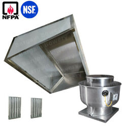 8and039 Ft Restaurant Commercial Kitchen Low Ceiling Slope Front Hood Captiveaire Fan