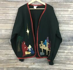 Vintage Calico Collectables Christmas Jacket Size Xl