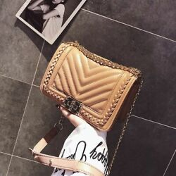 Small Women Shoulder Bag PU Leather Bags Crossbody Chain Messenger Ladies $32.99