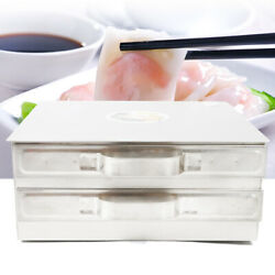 2 Layer Kitchen Stainless Steel Steaming Tray Food Rice Roll Steamer Machine Usa
