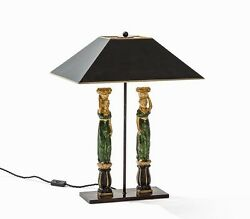 Amazing Bronze Figural Large Table Lamp With Couple Italy C. 1970