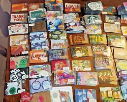 New Starbucks Gift Cards 550 + Piece Lot Cool Ones Holidays Cities Coffee Asst