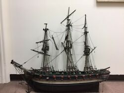 19th Century Model American Ship From Harding Museumthen Art Institute Chicago