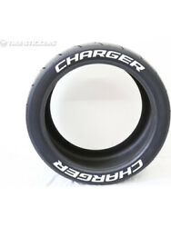 4 X Tyre Stickers Peel And Stick Temporary White Letters Charger 1 17-18 Wheels
