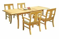 Dsos A-grade Teak 5pc Dining Set 94 Rectangle Table Chair Outdoor Patio