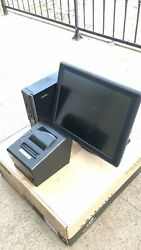 15 Touchscreen All In One Pos System Restaurant Point Of Sale 1 Printers