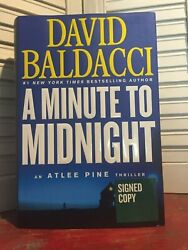 Signed And New - A Minute To Midnight By David Baldacci 2019-hardcover