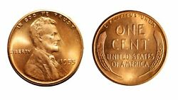 1955-p Lincoln Cent - Gem Bu Red 423