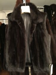 Chicago Fur Mart Size S. Brand New Reversible To Lamb Leather Mink Vest 7500.00