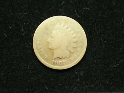 Must Go Sale Collectible Coin 1867 Indian Head Cent Penny W/ Partial Liberty 3h