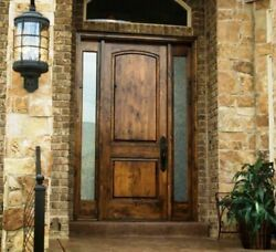 36x96 Tuscany Rustic Style Knotty Alder Entry Door With Sidelites