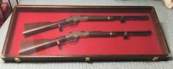 Rifle Display Case 44x18x3 For 2 Guns Henry / Winchester Etc. Lever Action