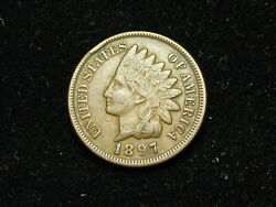 New Inventory Xf 1897 Indian Head Cent Penny W/ Diamonds And Full Liberty 102h